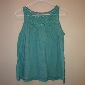3/$15! Old Navy Top with Eyelet Lace Neckline
